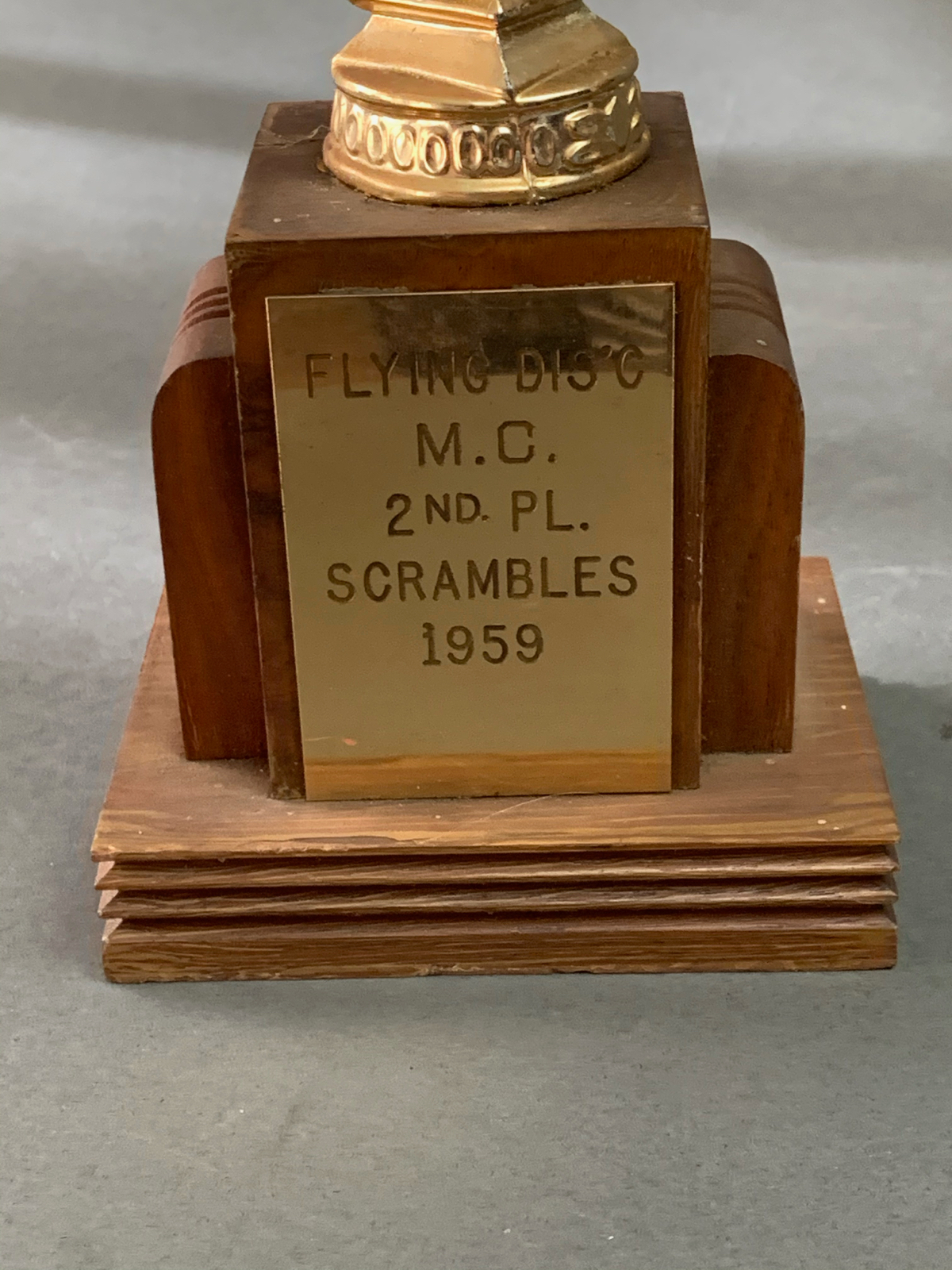 Vintage Flying Disc\'s MC  1959 Motorcycle Club Scrambles Trophy