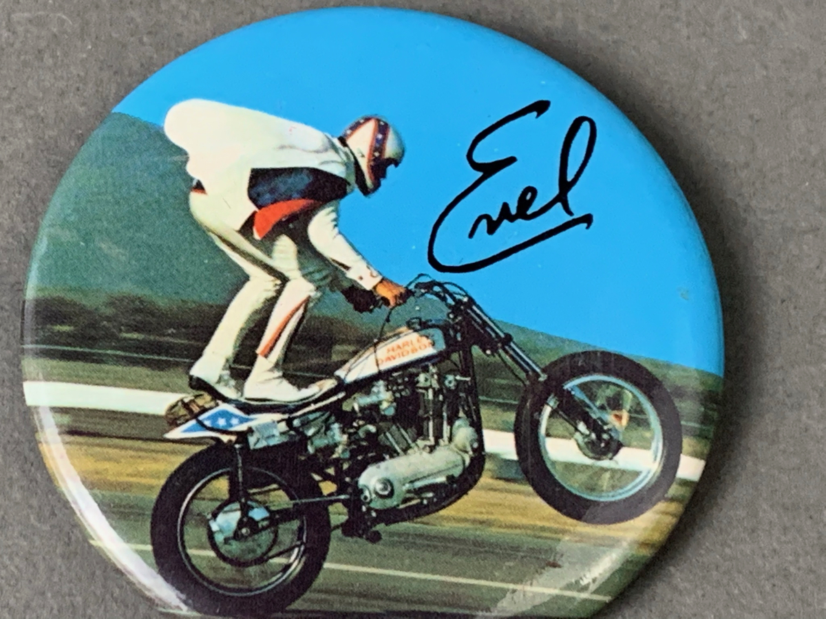 Evel Knievel Pin Back