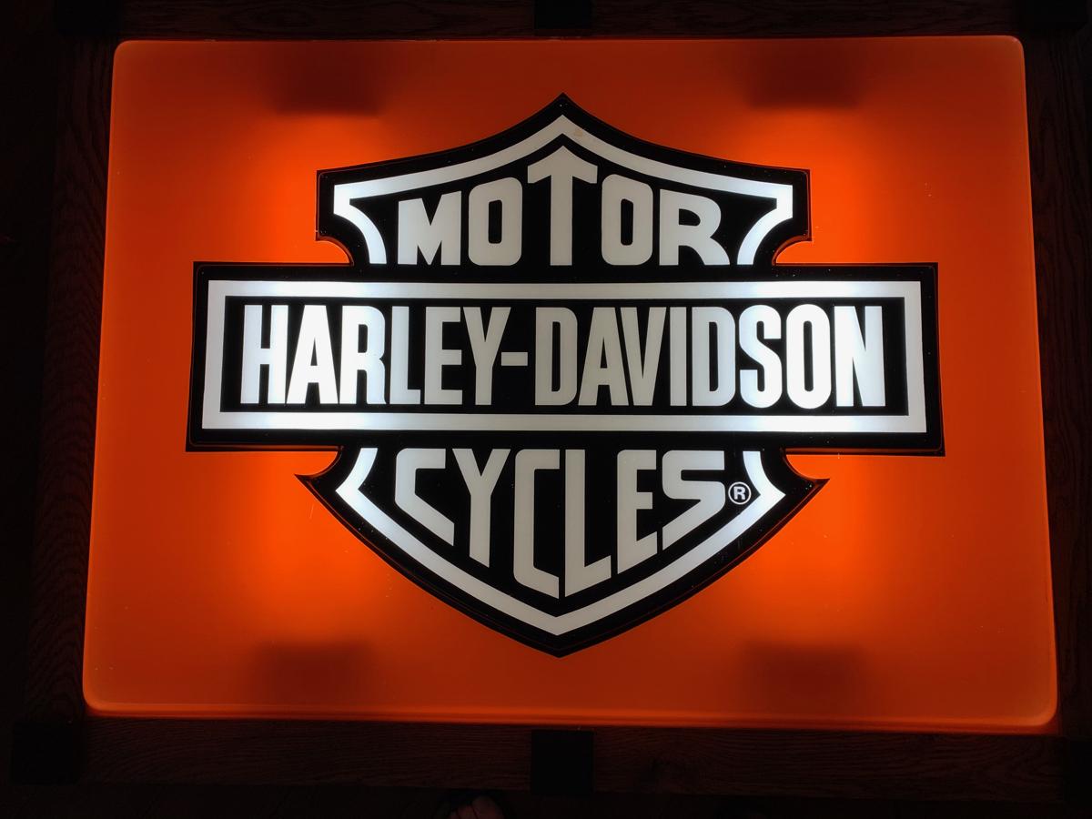 Harley Davidson Dealer Bar & Shield Lighted Sign