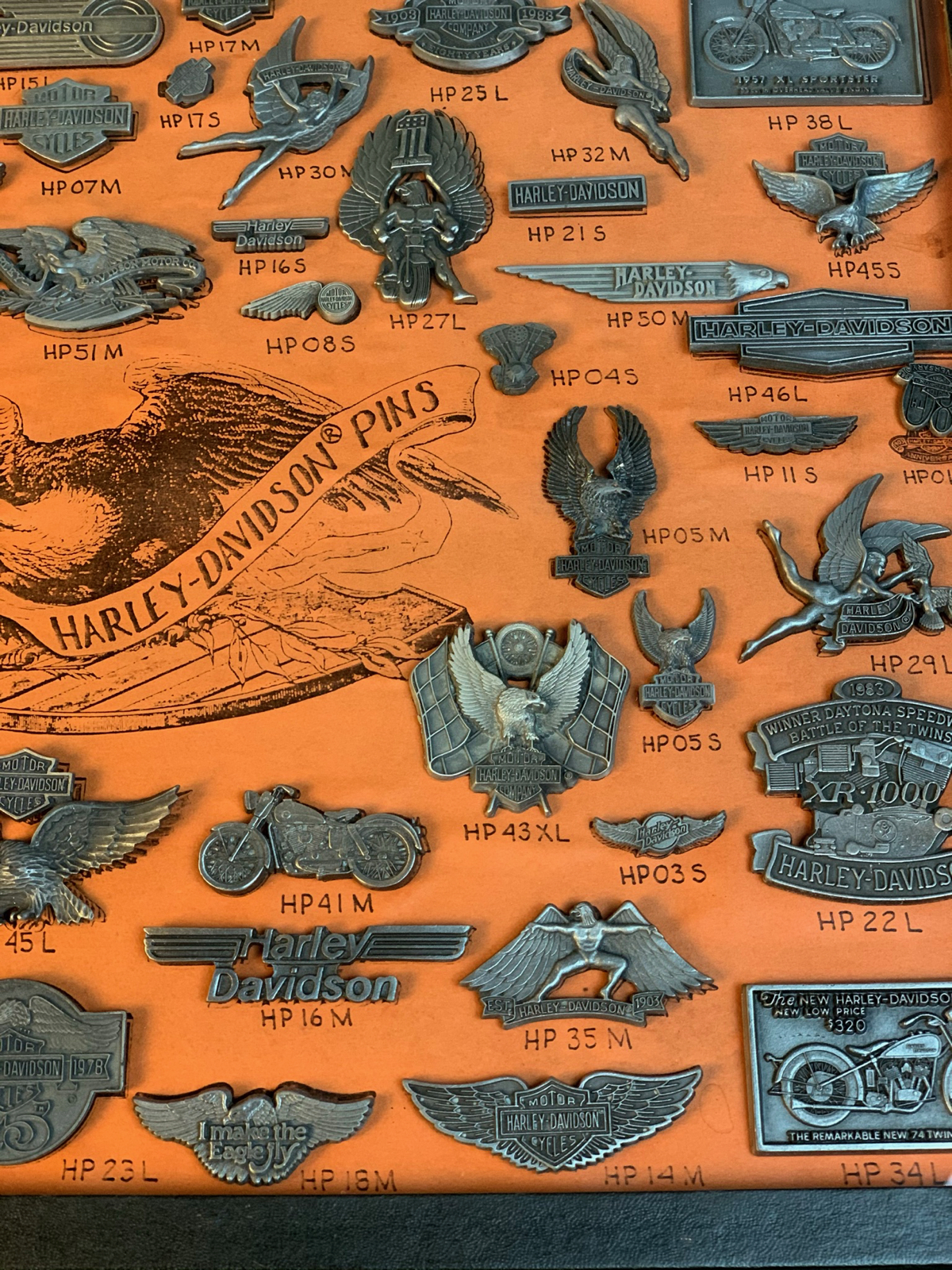 Harley-Davidson Dealer only 80\'s Pin set in Original Display