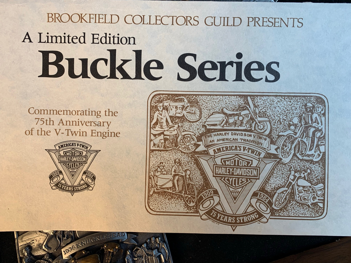Harley Davidson 75th Anniversary Collector 7 Buckle set #394