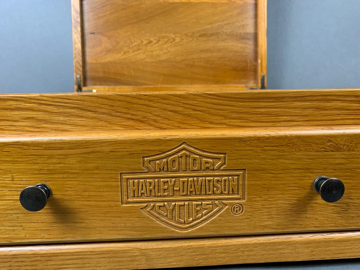Harley Davidson Oak Jewelry Box