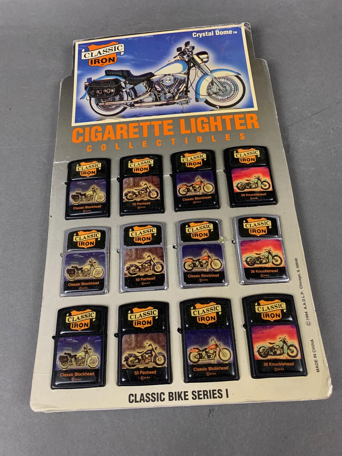 Harley Davidson Vintage Lighter display with New Lighters