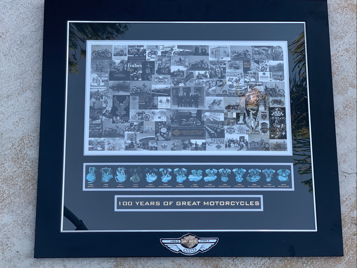 Harley Davidson Dealer Only 100th Anniversary Collage Picture
