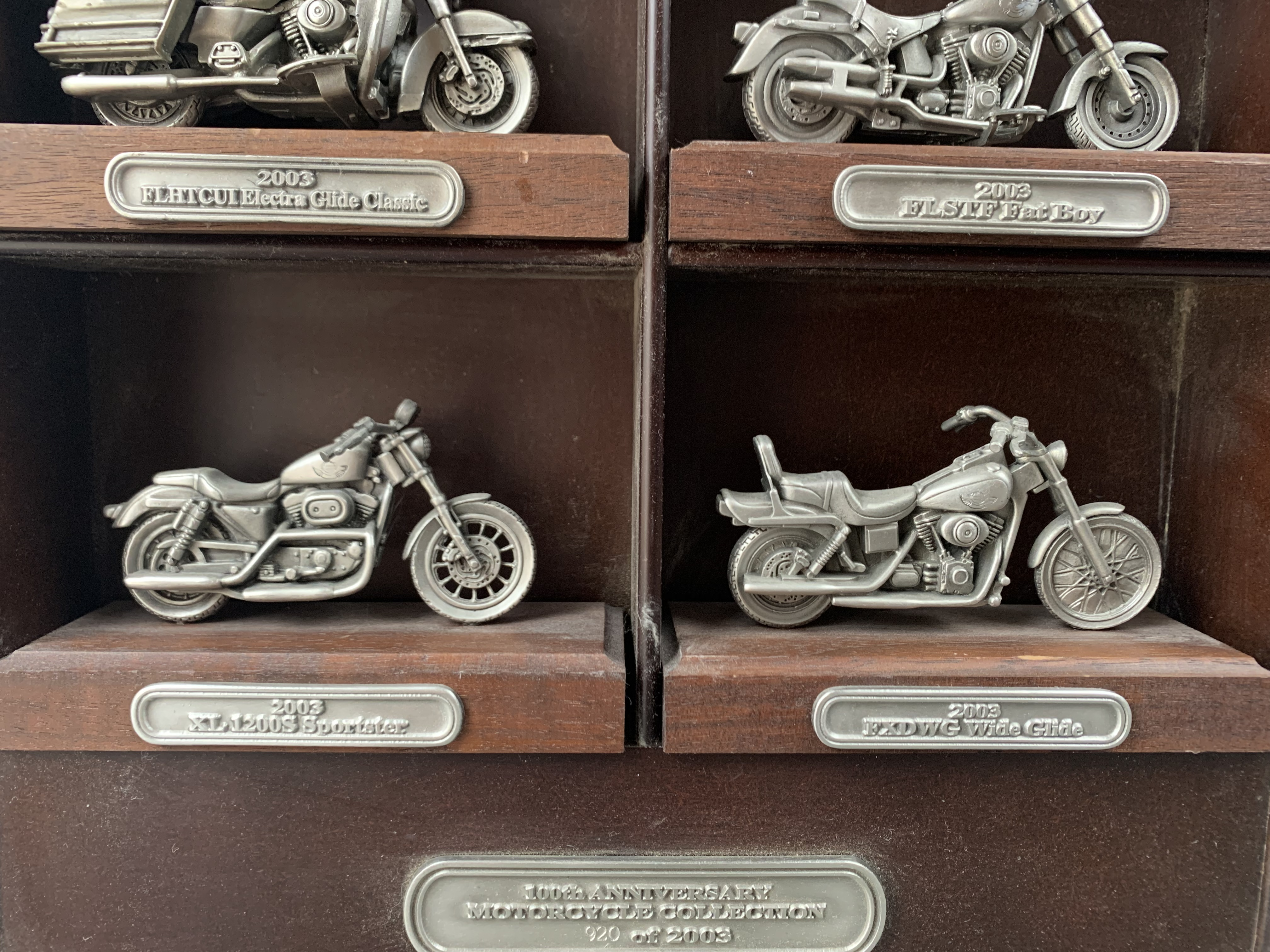 Harley-Davidson 100th Anniversary pewter bike collection Comes with COA