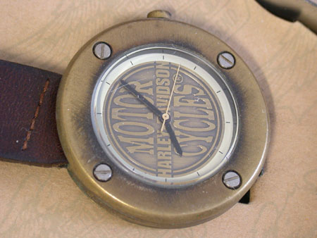 Brass Harley Davidson Watch ( NEW)