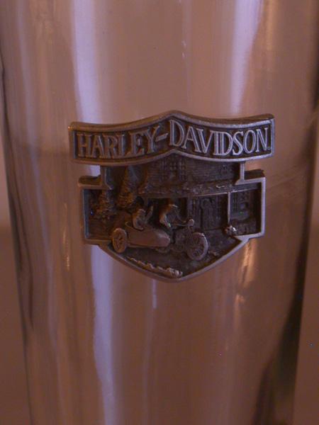 Harley Davidson Gone Fishing Glass