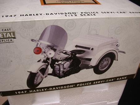 1947 Harley Davidson  Police Servi-car Bank