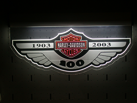 100th Anniversary Dealer Lighted Plexi sign