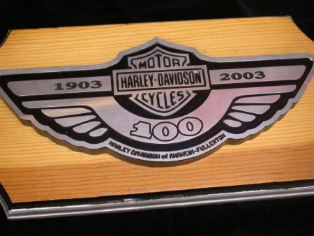 Custom !00th Anniversary Billet Plaque