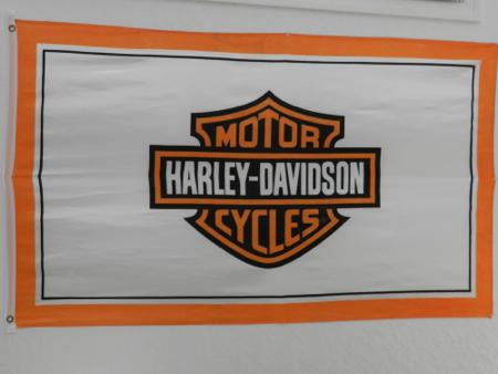 Vintage Harley Davidson 80\'s Dealer Banner