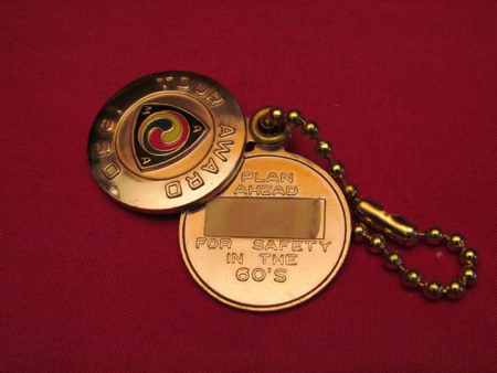 1960 AMA Tour Award Keychain space for ID
