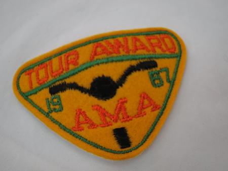 1967 AMA Tour Patch Award