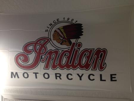 Indian Motorcycle  Vintage Dealer Banner