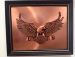 Harley Davidson Copper Art