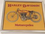Harley Davidson Framed Tin sign