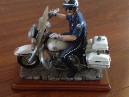 Harley Davidson Police officer Figurine