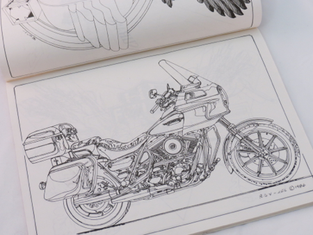 Harley Davidson Vntage Coloring Book