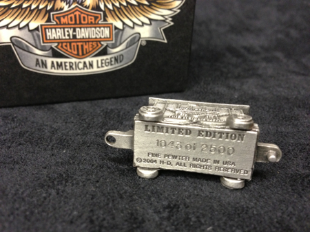 Harley Davidson Pewter Box car