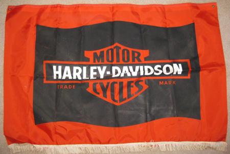VINTAGE 1973 HARLEY DAVIDSON BANNER