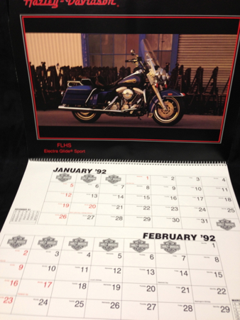 1992 Calender Features Bike Models