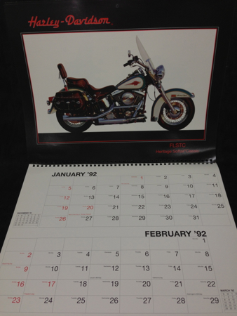 1991 Calender Features Bike Models