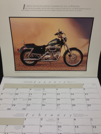 1994  Calender Features Bike Models