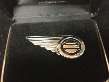 Harley Davidson Sterling Wing B&S Pin