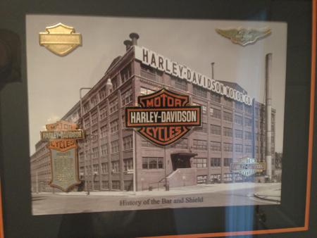 Harley Davidson Framed Pin Set