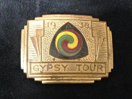AMA 1938 Gypsy Tour Bronze Buckle
