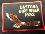 1992 Daytona Bike Week Patch