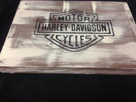 Harley Davidson Canvas Folk Art