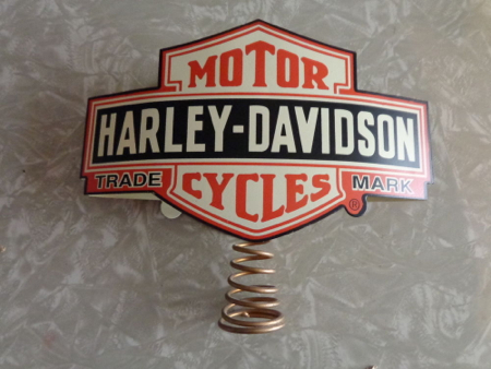 Harley Davidson Christmas Tree Topper