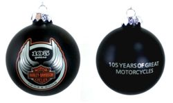 Harley Davidson 105th Christmas Bulb