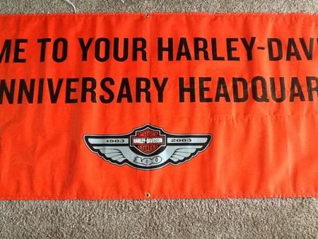 Harley Davidson 100th Anniversary Banner