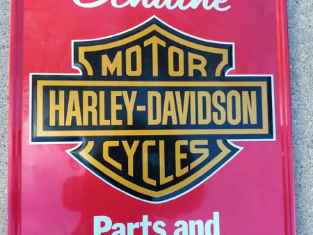 Harley Davidson Genuine Parts Sign