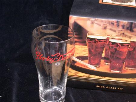 96 Harley Davidson 4 Soda Glass Set