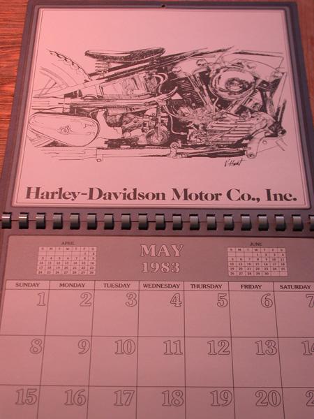 Vintage Harley  80th Anniversary Calendar