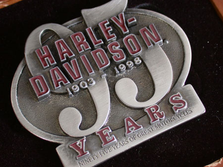 95th Harley davidson buckle