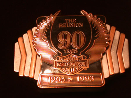 90th Anniversay Buckle Fob Pin Set