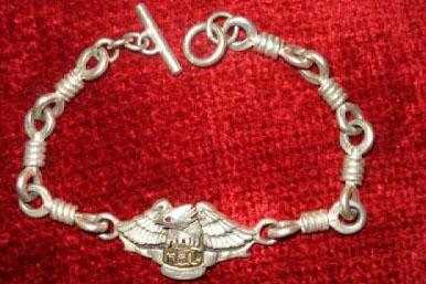Harley Davidson HOG bracelet.