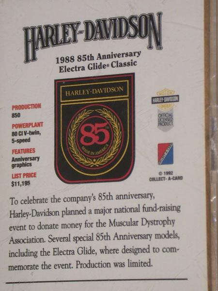 1988 Electra Glide Halogram Card