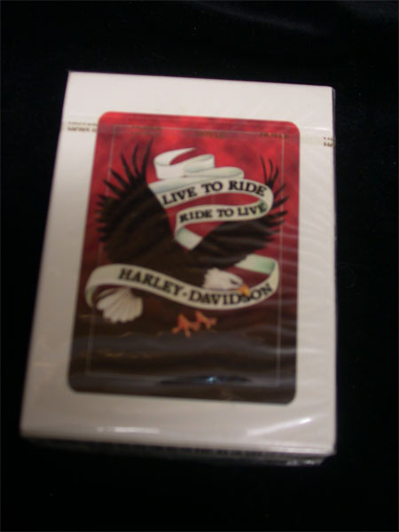 Live to Ride Harley Davidson Playing Cards