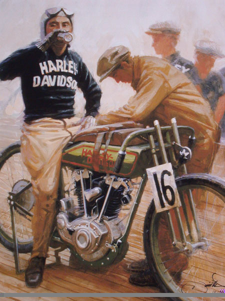 David UHL Break from the Boards Giclee