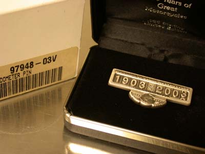 100th Sterling  Silver odometer Pin