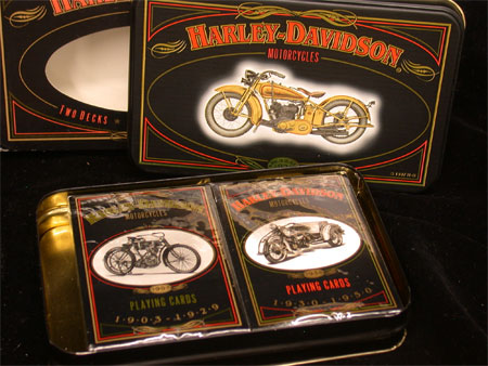Collector Harley  Playing  cards  with Tin #2