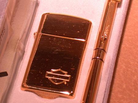 Harley Davidson Zippo lighter Pen set